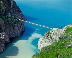 Lake Charvak, Uzbekistan #sea #scenic #bridge