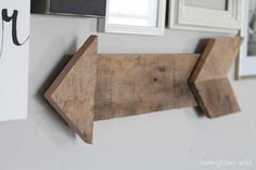 Wall Pallet Arrow | Cool Man Cave Ideas To Try This Week | DIY Projects