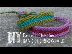 DIY Tuto: Comment Faire un Bracelet D'amitie/Brésilien - Bande Horizontale - YouTube