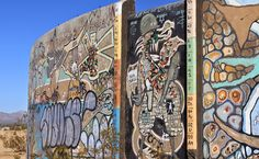 Reptilian Brain Series - Slab City Tank Farm Murals (Tank 1)