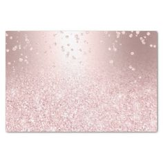 Shop Rose gold glitter ombre metallic sparkles confetti tissue paper created by girly_trend.