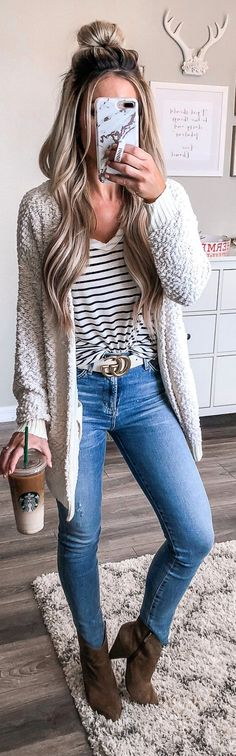Outfits for women 50 Top Fall Outfits Women Ideas Top Herbst Outfits Frauen Ideen 07 Mode Outfits, Casual Outfits, Fashion Outfits, Fashion Clothes, Casual Hair, Trendy Hair, Fashion Ideas, Casual Shoes, Dress Outfits
