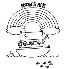 rainbow noahs ark coloring pages - photo#26