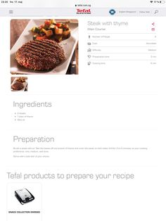 Steak, Snacks, Cooking, Collection, Tapas Food, Baking Center, Brewing, Finger Foods, Hors D'oeuvres