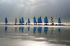 J'♥ Fort-Mahon plage. Un rayon de soleil sur cette plage magnifique et le sable mouillé en guise de miroir