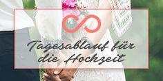 Tagesablauf für die Hochzeit: Kostenloser Download