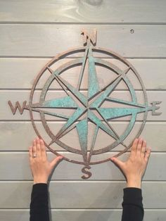A personal favorite from my Etsy shop https://www.etsy.com/listing/256938783/nautical-compass-22-saltwater-art-pirate