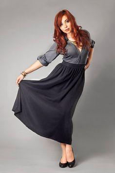 Tencel Twill Grey Maxi Skirt by kaliclothing on Etsy, $92.00