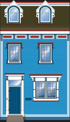 Jellybean Row Mobile Wallpaper, Tier Wallpaper, Stone Painting, House Painting, Bright Pictures, Rock Painting Designs, Newfoundland And Labrador, Wooden Projects, Train Layouts
