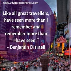 Sharing the best travel quotes collection with funny, inspirational and motivational quotes by famous authors on travel, life and travelling the world. Get motivated to explore the world with these memorable quotes from 100 Percent Travels.   » Read more about: Travel Quotes  »