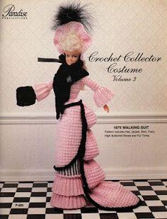 Barbie Crochê Miniaturas Artesanato e Coisas Mais de Tudo Um Pouco e Muito Mais: 18 Revistas Crochet Collector Costume Que Você Precisa Ter - Paradise Publications, Todos os Direitos Reservados