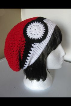 Oh...my...glob....would someone make this for me? I want a pokeball beanie!!!!