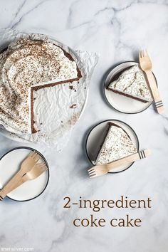 coke cake | Sheri Silver - living a well-tended life... at any age Chocolate Cake Mixes, Chocolate Box, Double Layer Cake, Coke Cake, Whipped Cream Frosting, Fancy Schmancy, Vegan Options, 2 Ingredients, Cake Pans