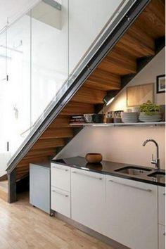 Kitchen Under Stairs Room Bat Converted Garage Mini Loft