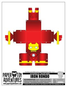 Blog Paper Toy papertoys Iron Man PTA template preview 4 (+1) Paper Toys Iron…