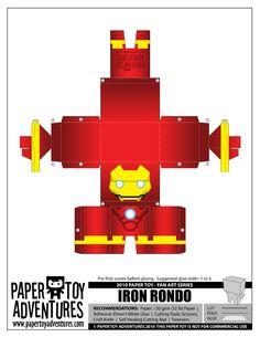 Blog Paper Toy papertoys Iron Man PTA template preview 4 (+1) Paper Toys Iron Man !!!