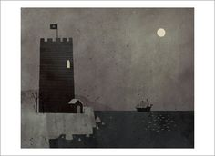 Extra Yarn page 14a (Castle at Night) by Jon Klassen - Gallery Nucleus