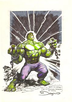 Hulk unchained / Hulk desencadenado Comic Art