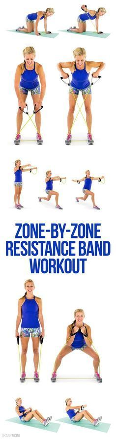 Zone-by-Zone Resistance Band Workout Video One of the most underrated pieces of equipment is the resistance band! Real Mom Model Melissa takes you through a full-body resistance band workout. Fitness Workouts, Fitness Motivation, Fitness Diet, At Home Workouts, Health Fitness, Yoga Fitness, Dance Fitness, Total Body Workouts, Total Body Toning