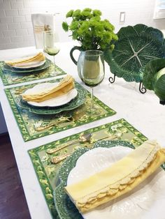 JBigg's Little Pieces: Early St. Patty's Day Tablescape with Bordallo Pinheiro