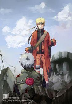 Naruto seeing Kakashi Sensei Dead, after Pain's Attack on Konoha Kakashi Hatake, Naruto Uzumaki, Anime Naruto, Boruto, Naruto Cute, Madara Uchiha, Shikamaru, Naruto And Sasuke, Gaara