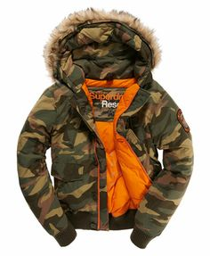 Superdry Tri Racing Camo Puffer Jacket for Mens