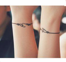 Anchor Bracelet Tattoo stickers a pari for couple Hook Tattoos, Anklet Tattoos, Dad Tattoos, Watch Tattoos, Mini Tattoos, Couple Tattoos, Body Art Tattoos, Small Tattoos, Sleeve Tattoos