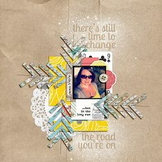 14 - This layout is gorgeous.  I especially love the masked title work.  Create a layout using masking in some way. - 1 pt