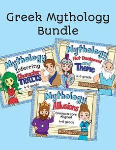 Greek Mythology MEGA Bundle • Allusion Lessons • Plot & Theme Lessons • Character Traits Lessons