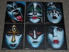 Kiss Face Paint, Kiss World, Kiss Rock Bands, Kiss Members, Kiss Me Love, Eric Carr, Tartarus, Kiss Art, Buzzard