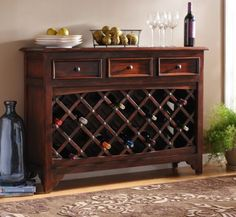 Wood Syrah Wine Cabinet