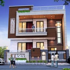 House Elevation Design By Gharbanavo.com – Ghar Banavo