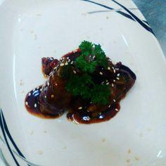 Beef enoki rolls