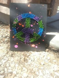 Hip Peace sign String art Room Decorations Ideas by ThejewelryCage, $25.00