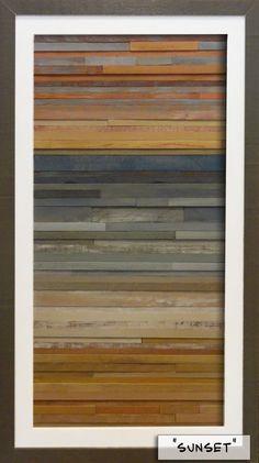 Costa reclamado madera arte 16 x 28 por skythirty en Etsy