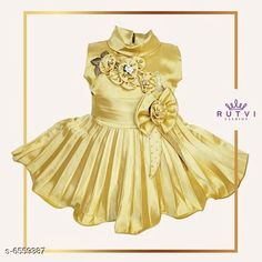 Checkout this latest Frocks & Dresses Product Name: *Little Princess Special Girl's Frocks * Sleeve Length: Sleeveless Pattern: Solid Multipack: Single Sizes: 6-12 Months, 12-18 Months, 0-1 Years, 1-2 Years, 2-3 Years, 3-4 Years Country of Origin: India Easy Returns Available In Case Of Any Issue   Catalog Rating: ★4.1 (1937)  Catalog Name: Modern Trendy Girls Frocks & Dresses CatalogID_1045041 C62-SC1141 Code: 604-6559387-2301
