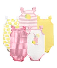 c5d2db656ce6 Brown Moose Long Sleeve Bodysuits - Set of Five #zulilyfinds. See more.  Look what I found on #zulily! Lemonade Ruffle Sleeveless Bodysuit Set -  Newborn &