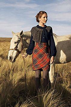 Tartan Plaid Skirt from Anthropologie Tartan Fashion, Look Fashion, Gothic Fashion, Fall Fashion, Scottish Fashion, Scottish Outfit, Scottish Skirt, Scottish Clothing, Tartan Plaid