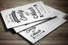 Save the Date Invitation Postcard by Graphic Boutique on Creative Market
