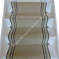 Brintons Carpets Bell Twist French Champagne Brighton Rock Stair Runner (per M)