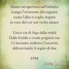 Siamo un'apertura sull'infinito  #poesia #poesiadamore #poem #poetry #pensieri #parole #amore