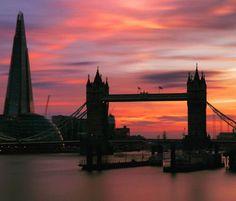 Tower Bridge, Dusk, England, Silhouette, Colours, London, Twitter, Travel, Viajes