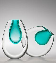 Vasos Duo e Lua ,Cristal Soprado, Designer Jacqueline Terpins