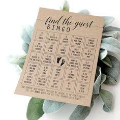Baby Shower Find The Guest Bingo, Baby Bingo Cards, Baby Shower Game Baby Shower Quiz, Baby Shower Prizes, Fun Baby Shower Games, Baby Shower Bingo, Baby Shower Cards, Baby Shower Themes, Shower Ideas, Bingo Cards, Game Cards