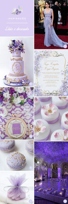 A decoração em lilás e dourado é delicada e perfeita para a festa de 15 anos! Gosta da ideia? Selecionamos 8 inspirações para ajudar as debutantes!