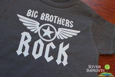 Toddler BIG BROTHERS ROCK boys toddler tee shirt by RiverImprints, $12.00