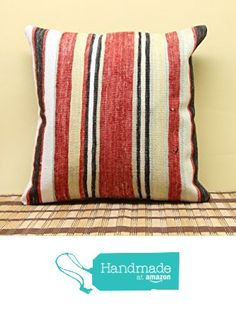 Turkish kilim pillow cover 16x16 inch (40x40 cm) Oriental Kilim pillow cover Home Decor Turkish Pillow cover Natural Pillow Cover Cushion Cover from Kilimwarehouse http://www.amazon.com/dp/B019H5UDPA/ref=hnd_sw_r_pi_dp_-W9Dwb1BJ7JPJ #handmadeatamazon