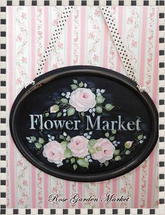 Flower Market Hanging Wall Sign Chalk by CelestinaMarieDesign