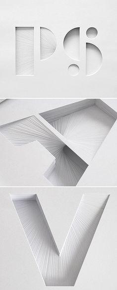 Le papier au service de la typographie // Design Vagabond