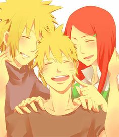 Kushina Minato and Naruto